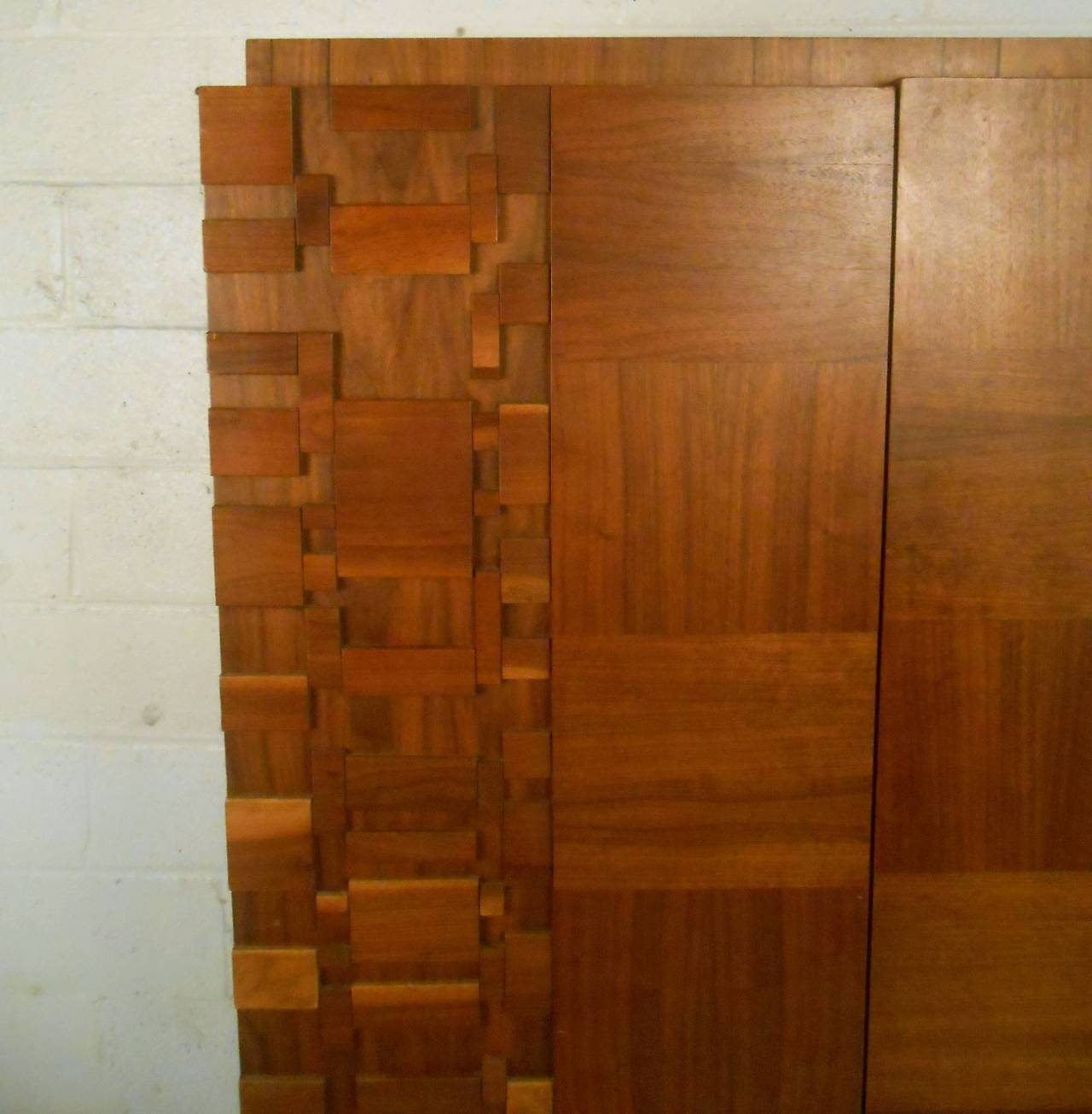 Mid-Century Modern Brutalist Staccato Armoire by Lane at ...