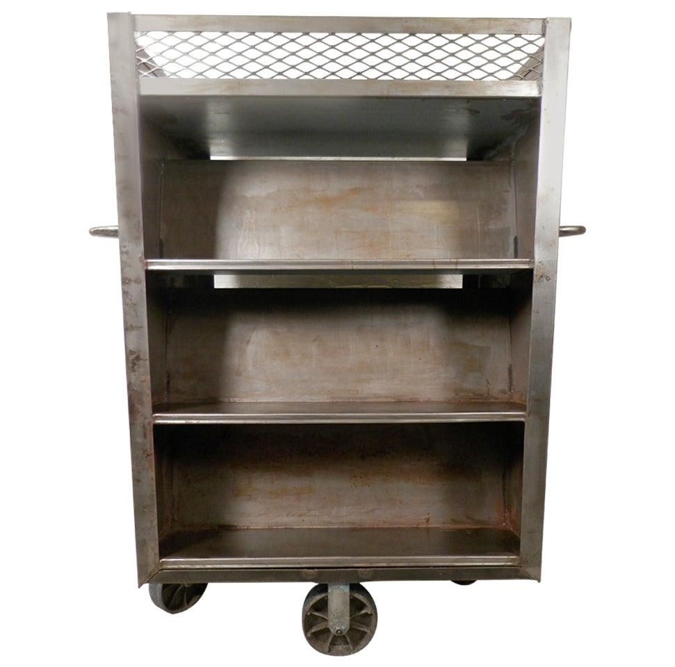 Large Industrial Metal Rolling Cart