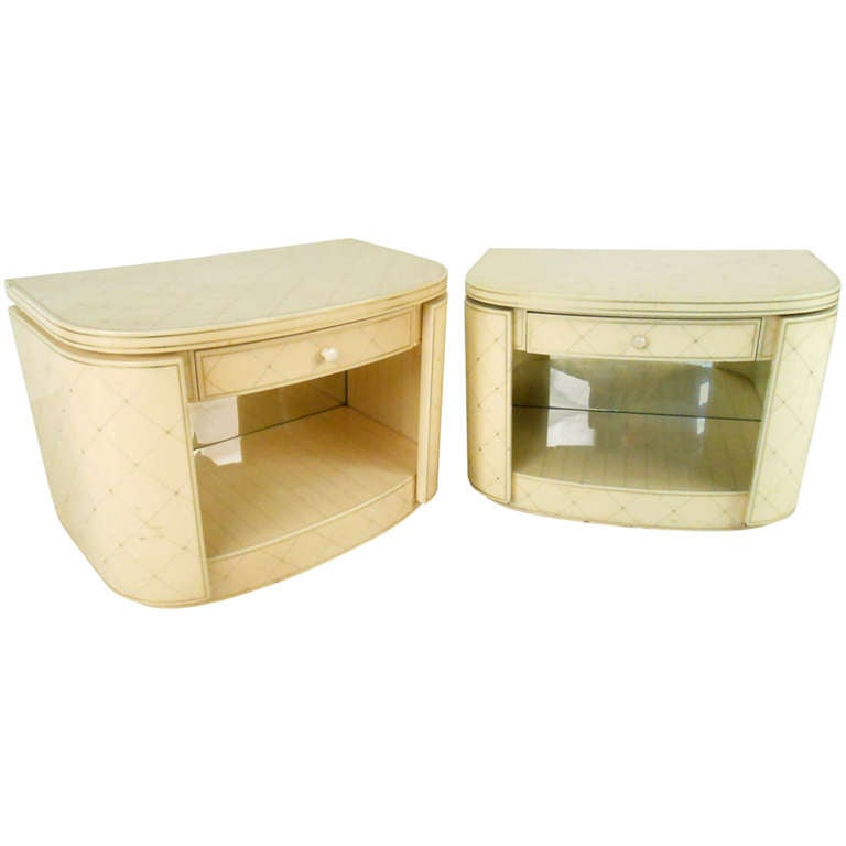 Pair of Hollywood Regency Style End Tables