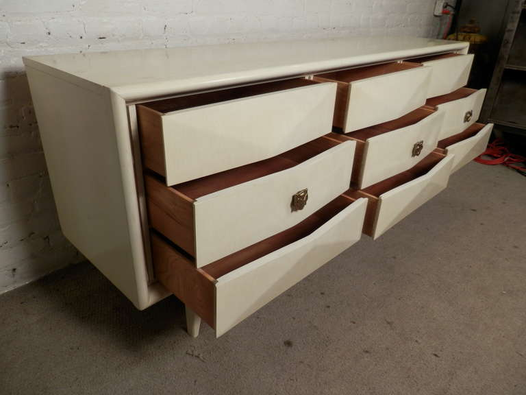 Diamond Front Mid Century Dresser By United Furniture
