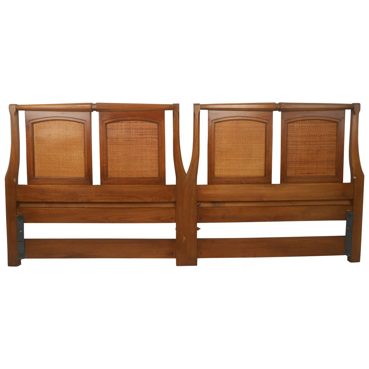Midcentury Walnut Headboard By White Furniture Co For Sale At 1stdibs