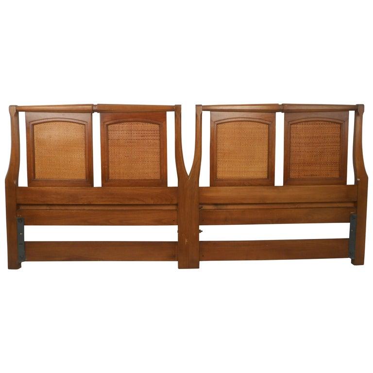 Mid-Century Modern Walnut Headboard by White Furniture Co For Sale