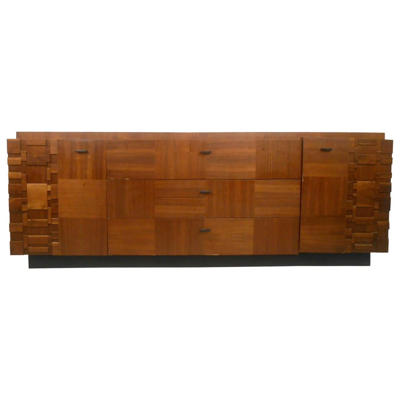 Mid Century Modern Brutalist Dresser By Lane For Sale At