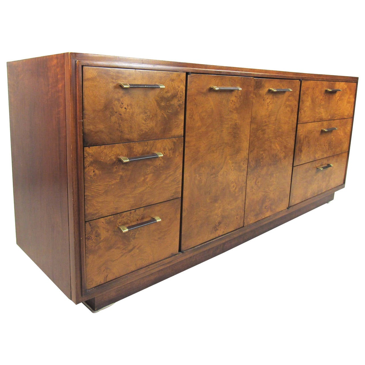 stylish midcentury burlwood bedroom dresser for sale at stdibs - stylish midcentury burlwood bedroom dresser