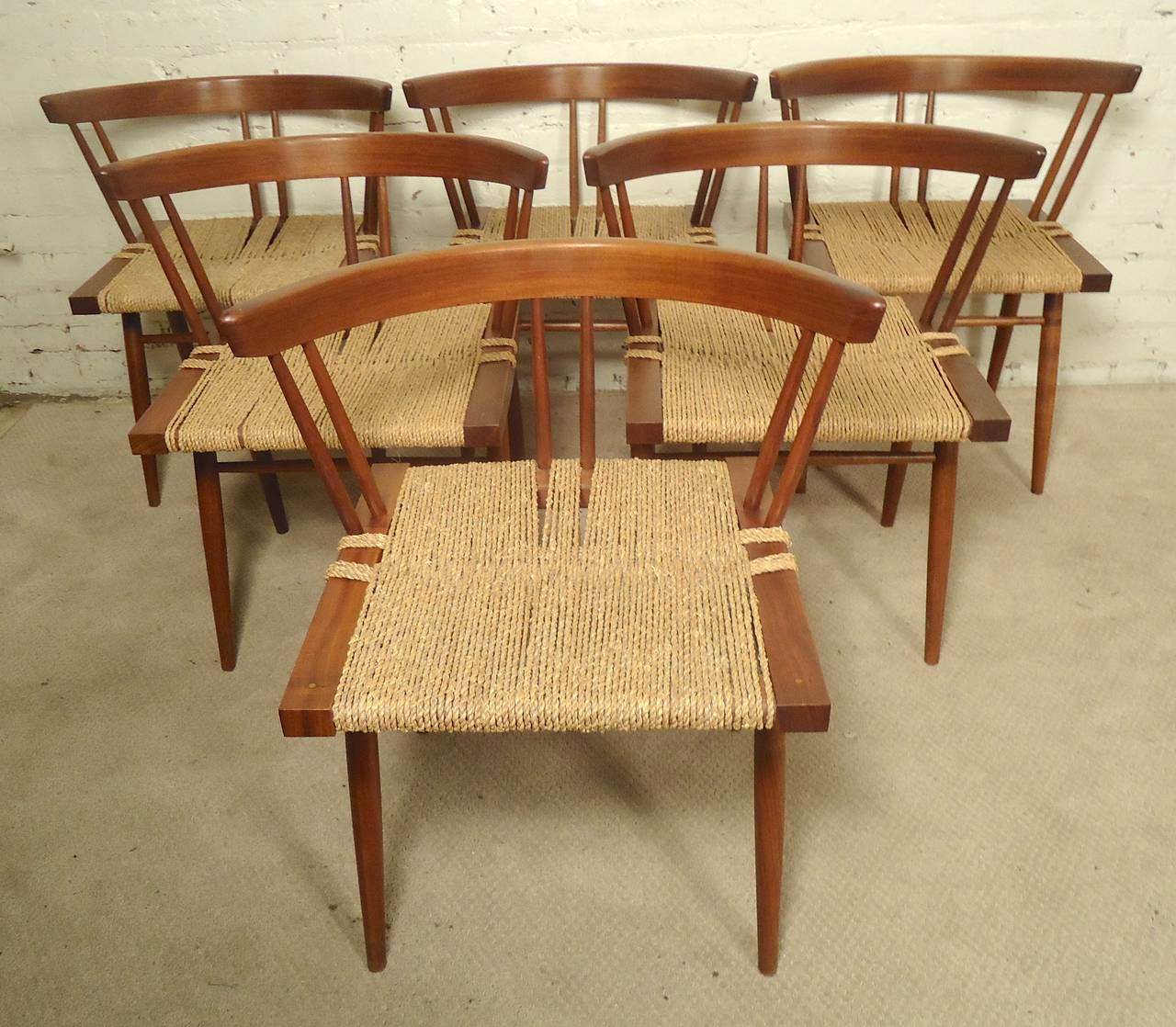 Mid-Century Modern Dining Set by Nakashima For Sale