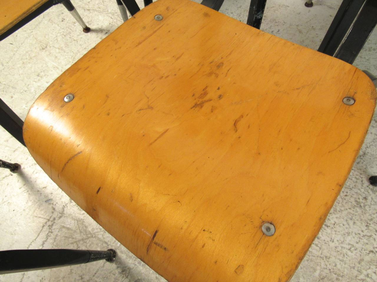 Set of Ten Vintage Bentwood Student Chairs For Sale 2