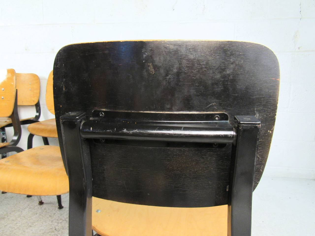 Late 20th Century Set of Ten Vintage Bentwood Student Chairs For Sale