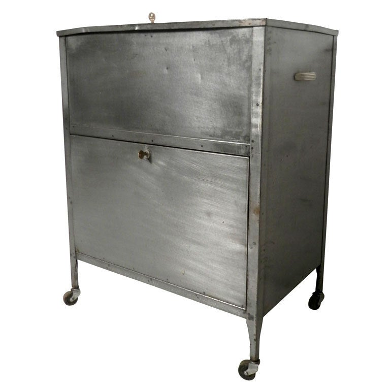 Industrial Rolling File Cabinet At 1stdibs