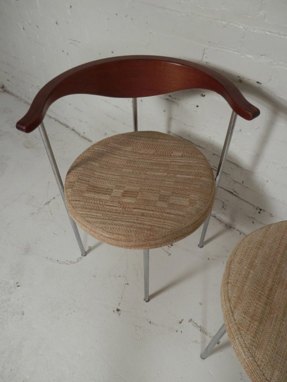Pair of Frederick Sieck for Fritz Hansen El-Bow Chairs 5