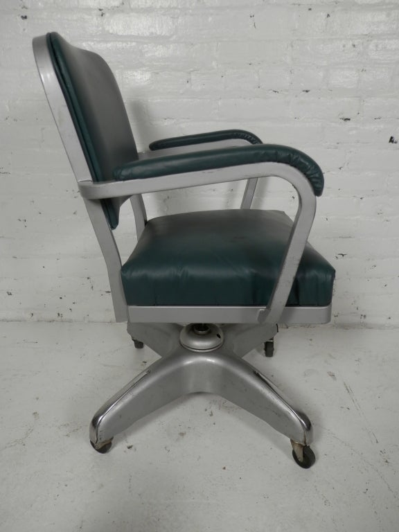 Handsome Vintage Industrial Cole Steel Desk Chair At 1stdibs