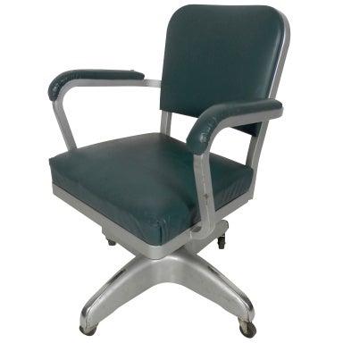 Handsome Vintage Industrial Cole Steel Desk Chair At 1stdibs