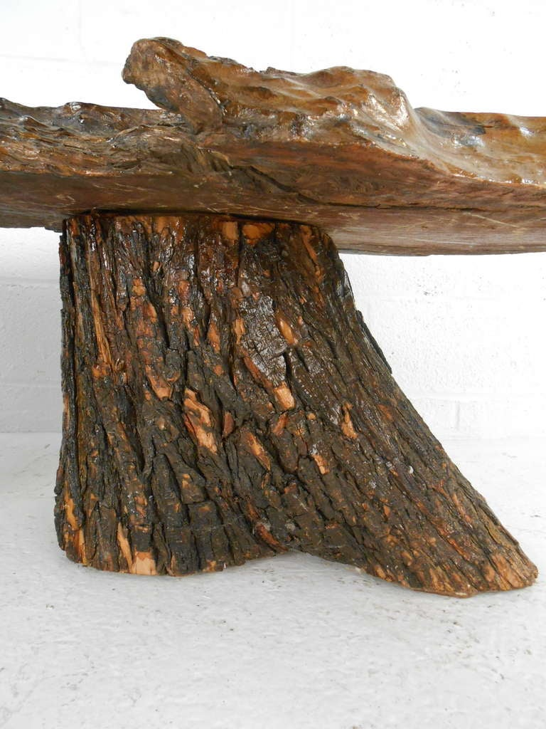 Rustic Tree Trunk Cocktail Table At 1stdibs