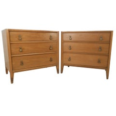 Pair Mid-Century Three Drawer Dressers by Mount Airy