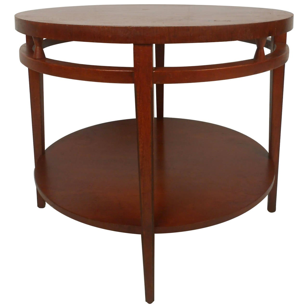 Midcentury Lane Style Two Tier Round Coffee Table For Sale At 1stdibs