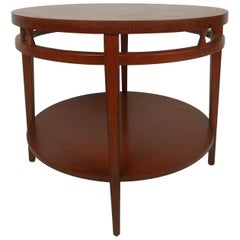 Midcentury Two-Tier Round Coffee Table