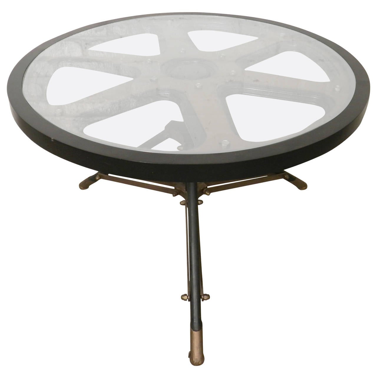 Industrial style coffee table at 1stdibs for Coffee tables industrial