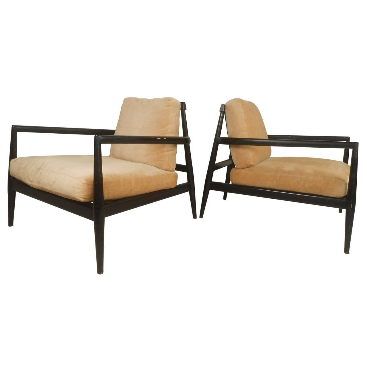 Pair Edmond J. Spence Urban-Aire Lounge Chairs