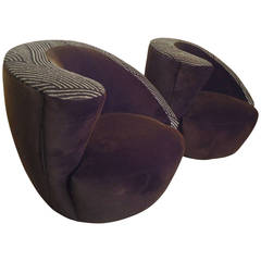 """Nautilus"" Swivel Chairs by Vladimir Kagan"