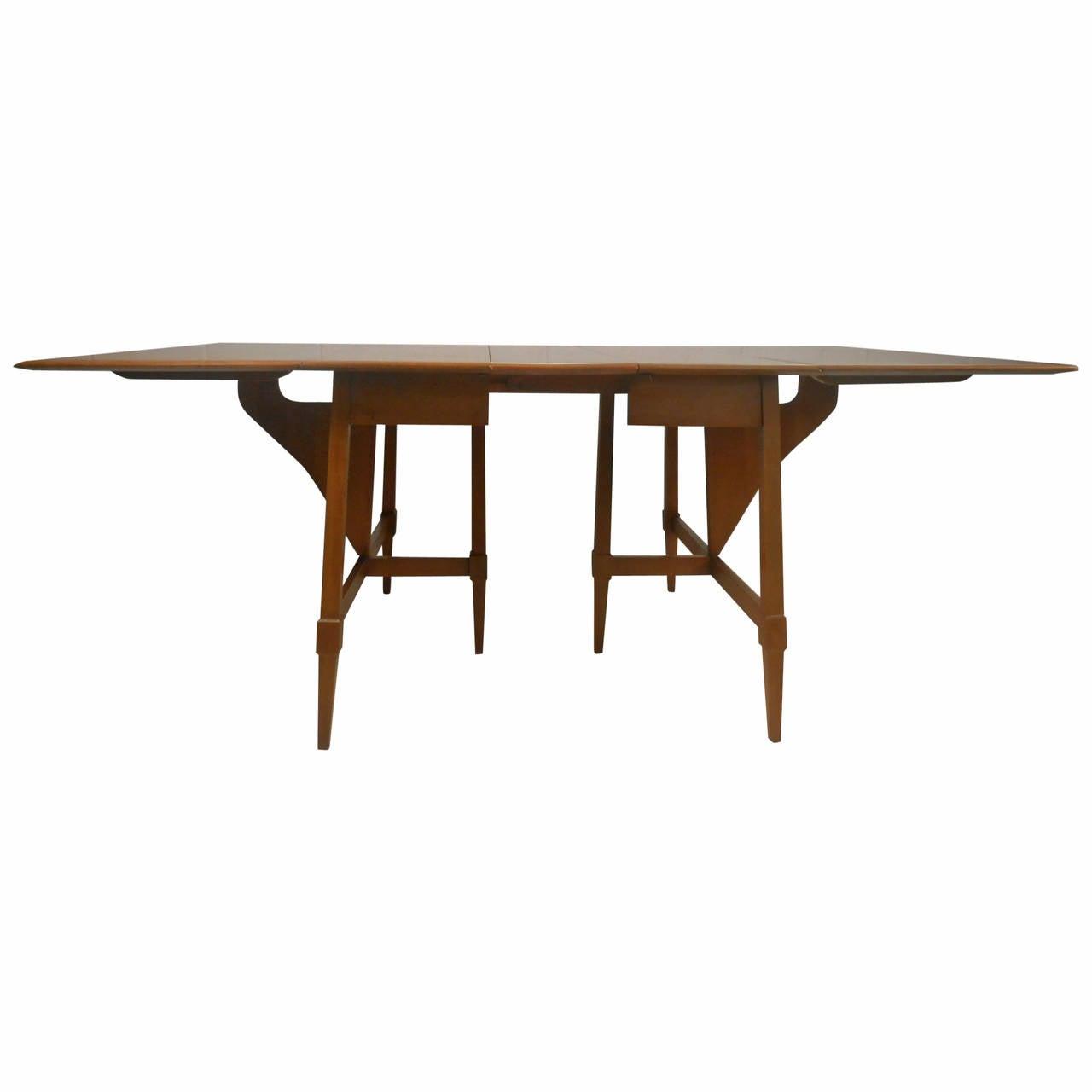 Mid-Century Modern Drop-Leaf Table