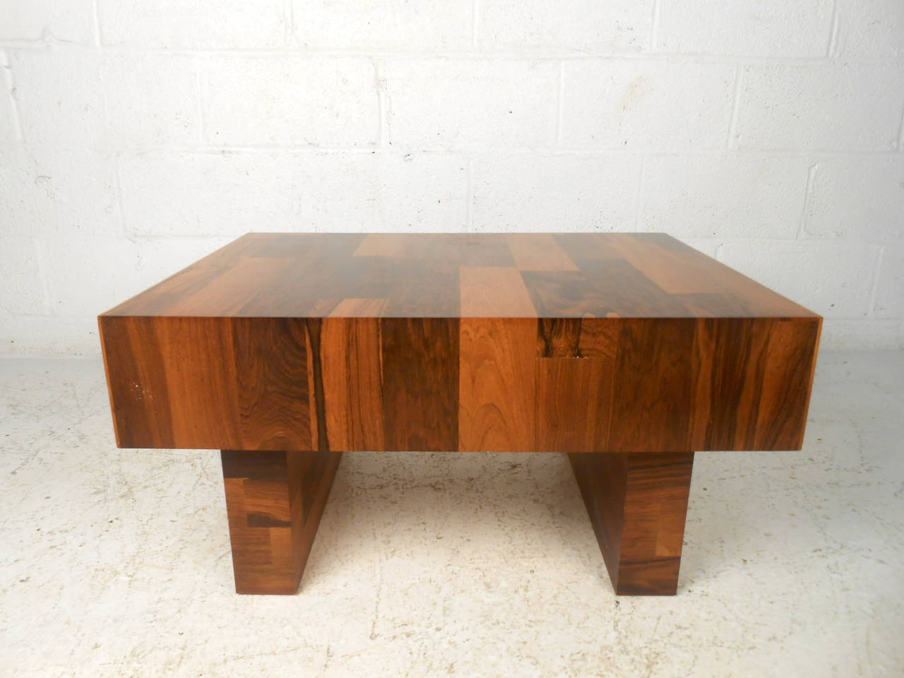 mid century modern end table with drawer for sale at 1stdibs. Black Bedroom Furniture Sets. Home Design Ideas