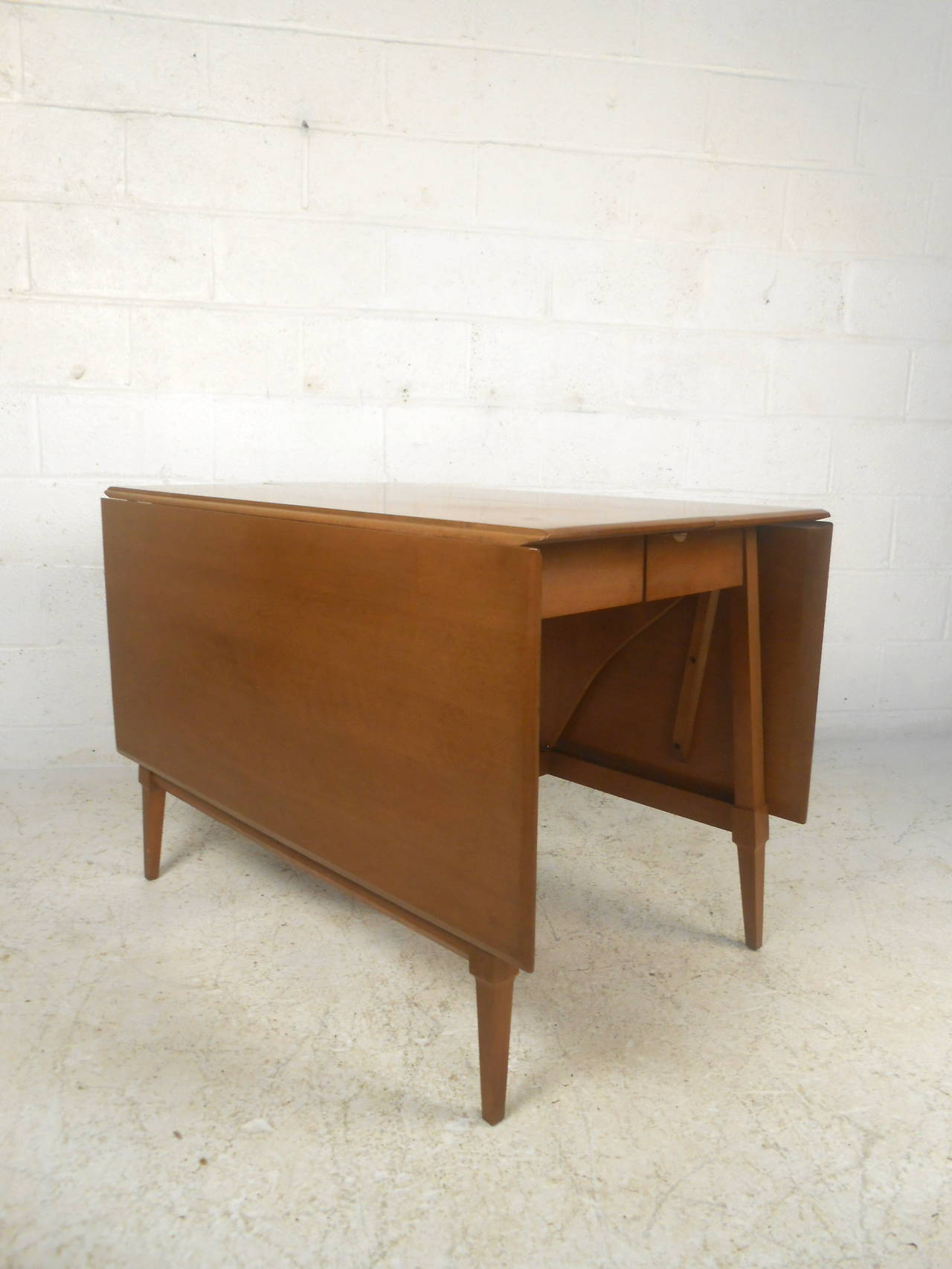 Mid Century Modern Drop Leaf Table For Sale At 1stdibs