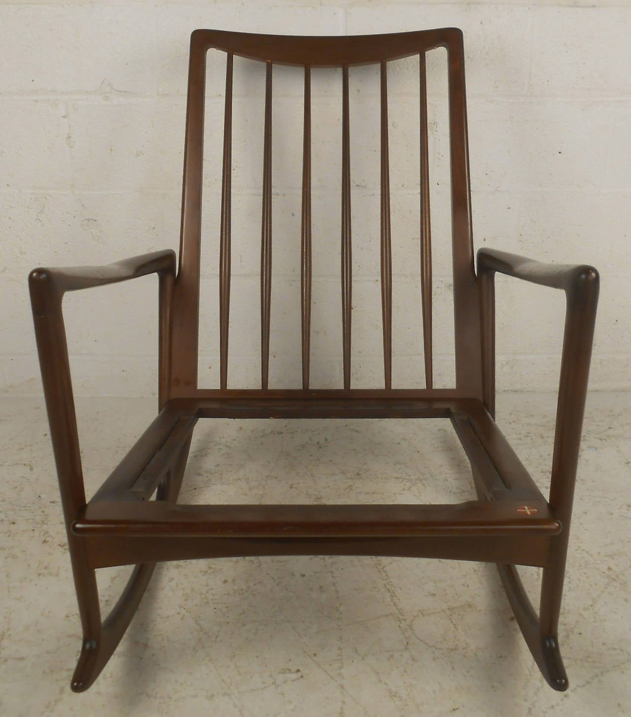 mid century modern danish rocking lounge chair for sale at 1stdibs