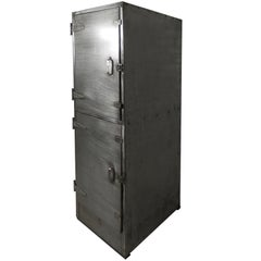 Industrial Metal Mid Century Two Door Locker