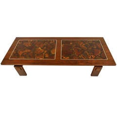 Lane Coffee Table with Decorative Inlay