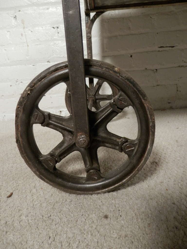 Antique Industrial Two Level Cart At 1stdibs