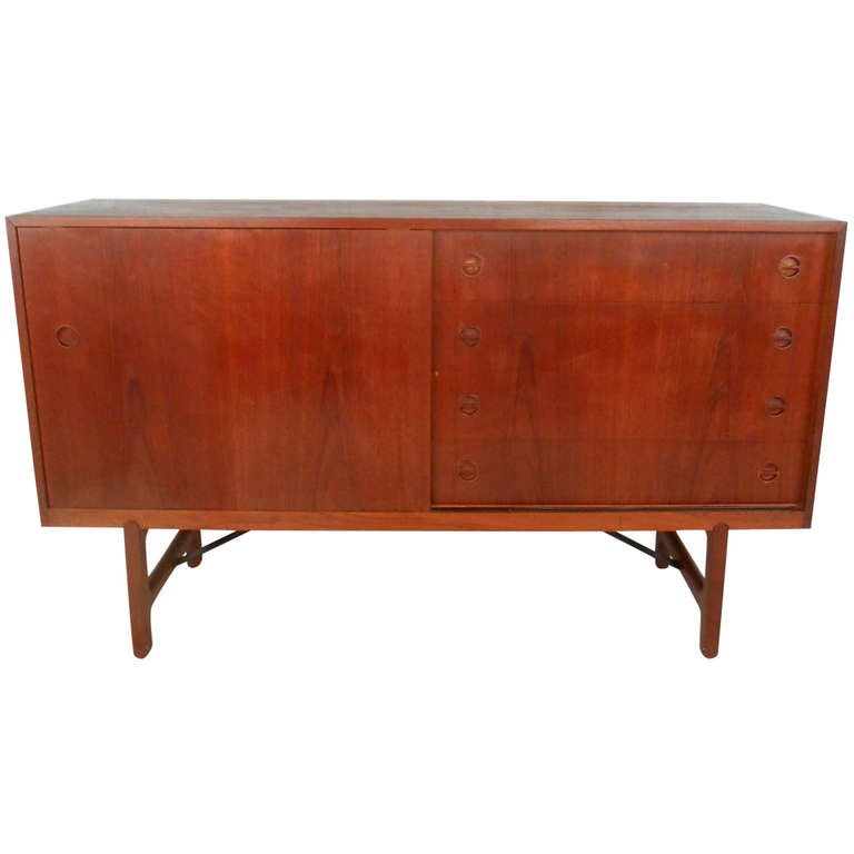 Mid Century Credenza For Sale: Mid-Century Modern Danish Teak Credenza For Sale At 1stdibs