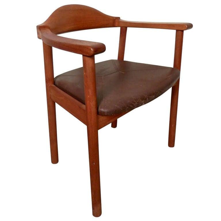 Hans Wegner Inspired Mid-Century Arm Chair