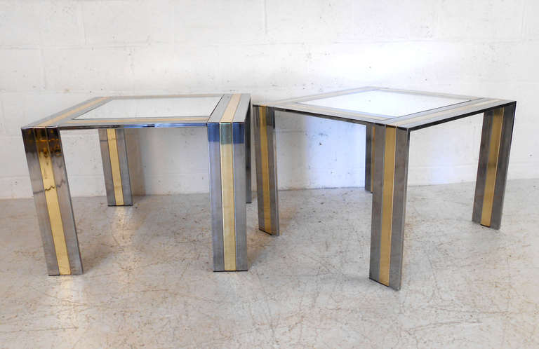 Pair of Vintage End Tables in the Style of Paul Evans In Good Condition For Sale In Brooklyn, NY