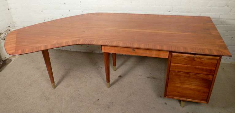 Tremendous Mid Century Modern Executive Desk By Standard At 1stdibs
