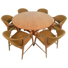 Mid-Century Modern Teak Dining Set with Westnofa Chairs