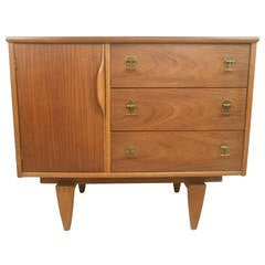 Midcentury Walnut Credenza by Stanley Furniture