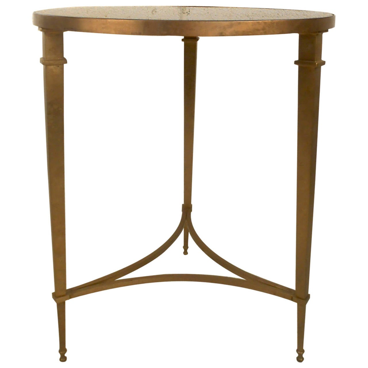 Hollywood Regency Brass And Granite End Table At 1stdibs