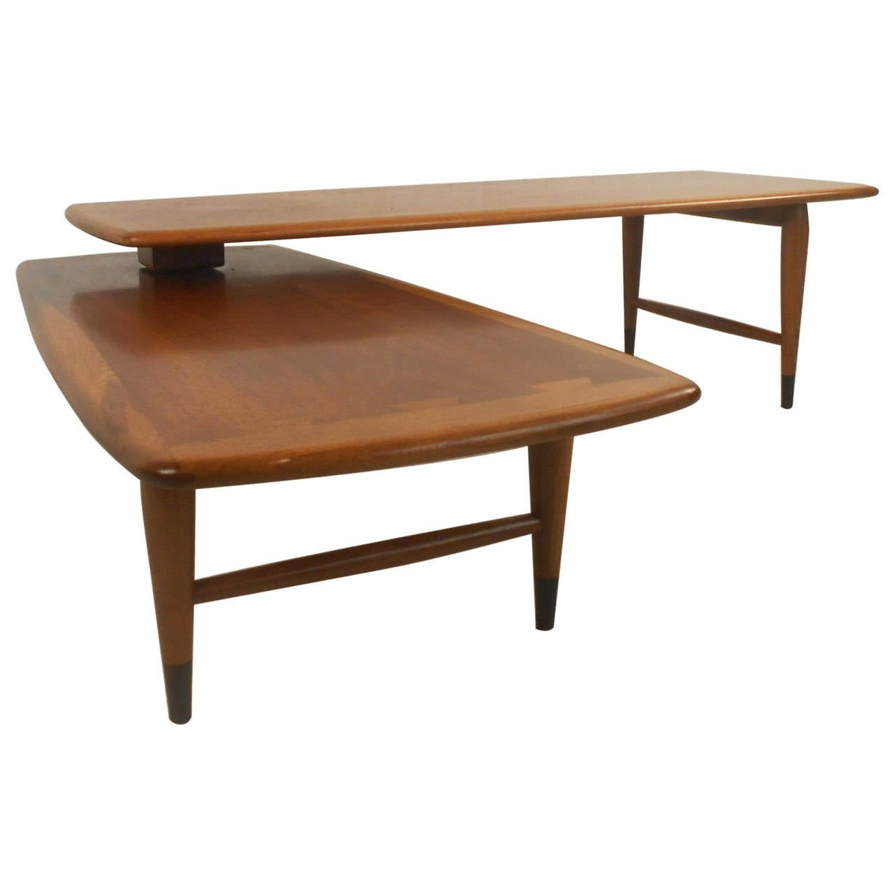 mid century modern expanding coffee table by lane for sale at 1stdibs. Black Bedroom Furniture Sets. Home Design Ideas