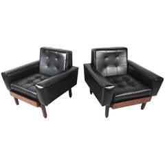 Vintage Mid-Century Modern Lounge Chairs