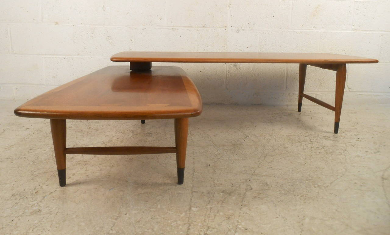 mid century modern expanding coffee table by lane for sale at 1stdibs