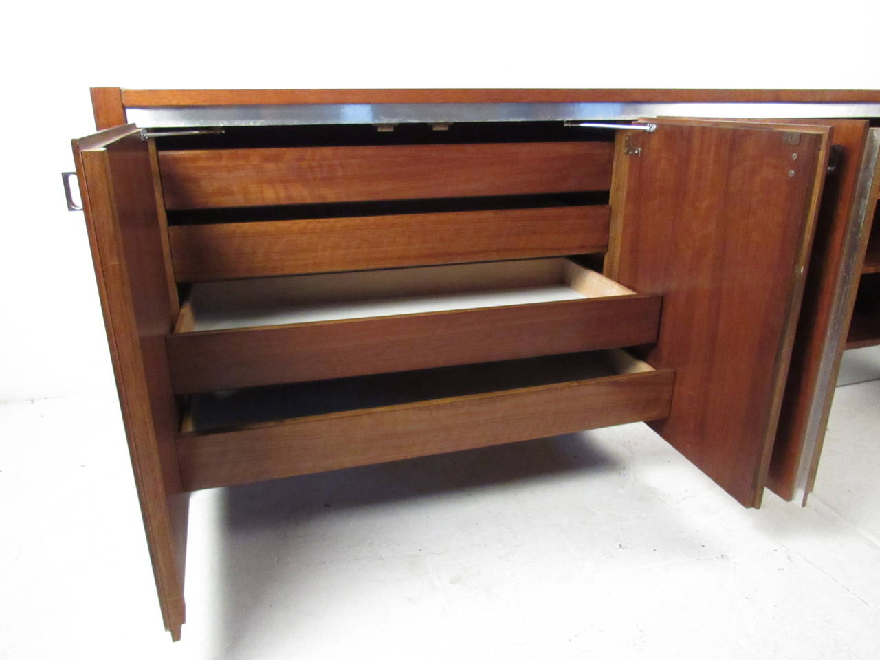 American Mid-Century Credenza by Founders For Sale