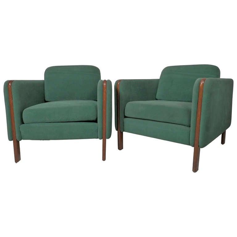 Rare Milo Baughman Designed Armchairs