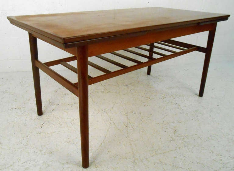 Unique Mid Century Modern Draw Leaf Coffee Table For Sale At 1stdibs