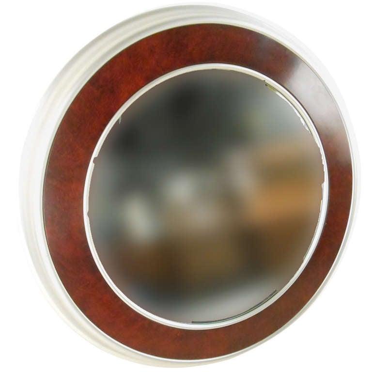 Large Round Vintage Modern Wall Mirror
