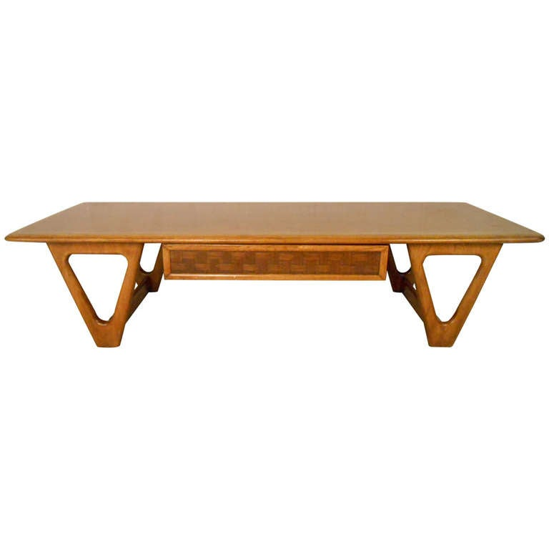 Mid Century Modern Coffee Table With Planter: Mid-Century Modern Lane Perception Coffee Table For Sale
