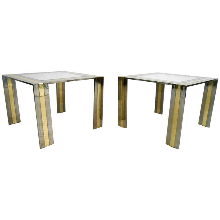 Pair of Vintage End Tables in the Style of Paul Evans