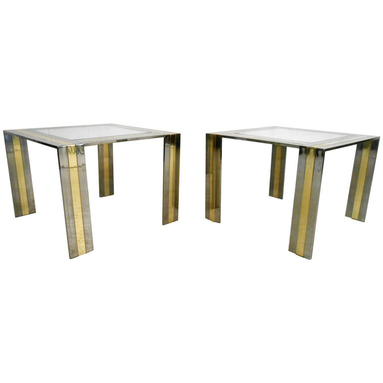 Pair of Vintage End Tables in the Style of Paul Evans For Sale