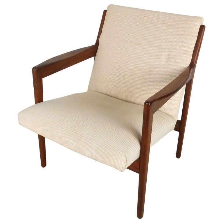 Mid Century Modern Armchairs: Mid-Century Modern Wegner Style Danish Rosewood Armchair