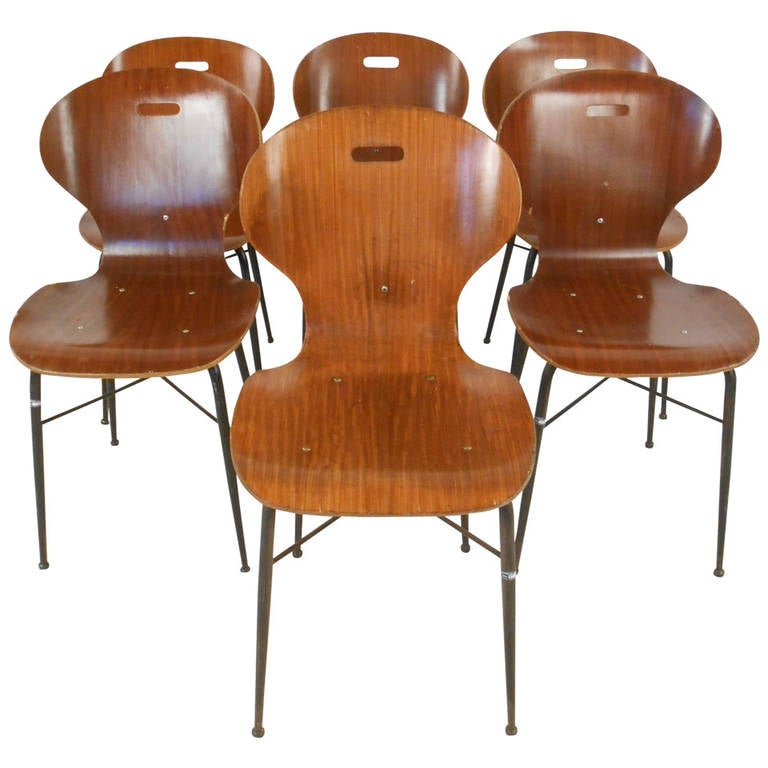 Italian Modern Dining or Student Chairs For Sale