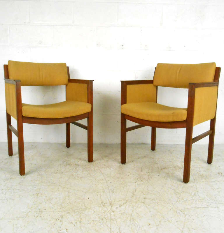 pair mid century modern ebena lasalle sidechairs for sale at 1stdibs