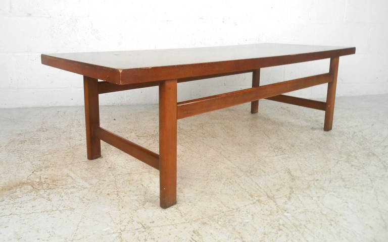 American Vintage Walnut Coffee Table by Lane Furniture For Sale